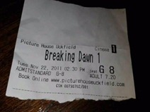 breaking dawn ticket