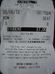 Snow White and the Huntsman ticket