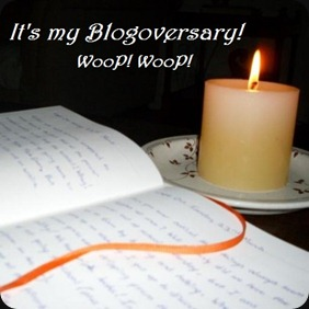 My blogoversary