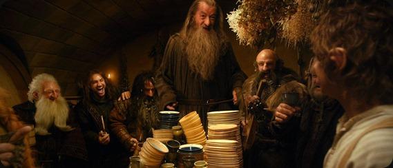 the hobbit dwarves round table