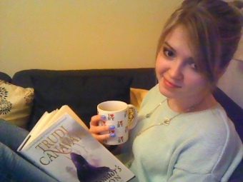 Tea and book both in hand, this is SERIOUS business people.