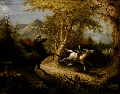 The Headless Horseman Pursuing Ichabod Crane