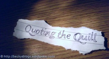 quoting the quill small