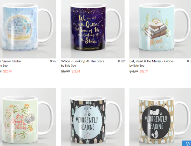 Evie Seo coffee mugs
