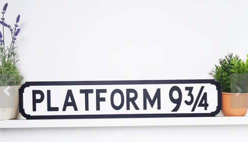 Harry Potter platform sign Etsy