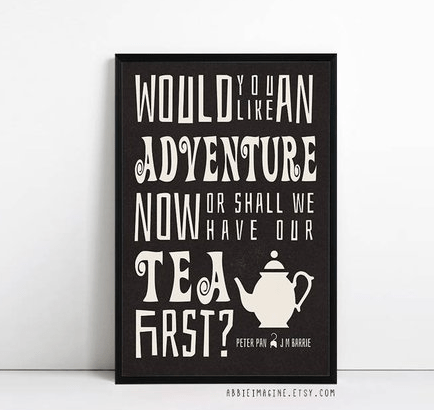 Peter Pan quote Print