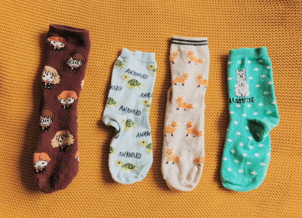 Silly socks. Character prints